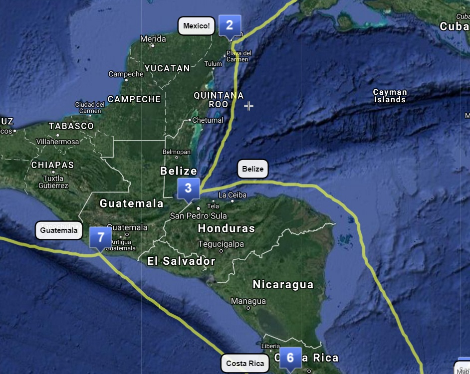 (3) Cancun to Belize – COMPLETE