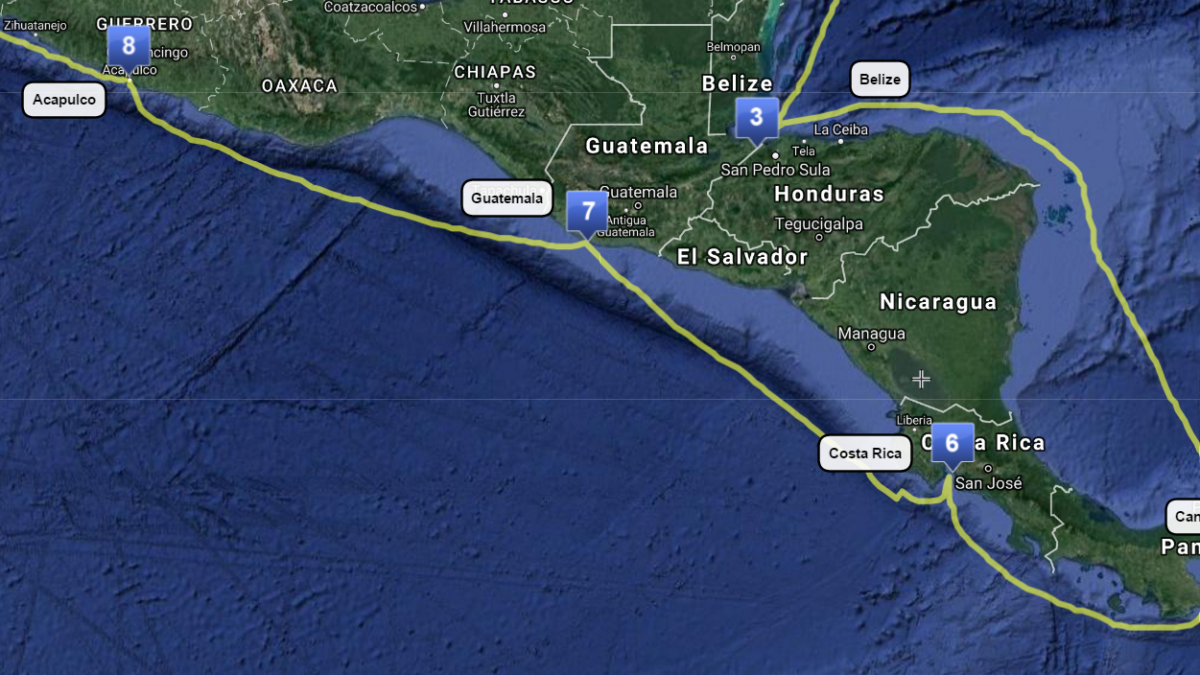 (6) Costa Rica to Acapulco– COMPLETE
